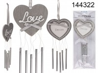 Metal/wooden wind chime, Love & Dream ass., with ...