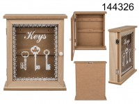 Natural coloured wooden key box, Keys,  ca, 22 x ...