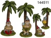 Polyresin Garden Gnome on island, approx. 8,5 x ...
