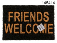 Floor mat, Friends welcome, ca. 60 x 40 cm, ...