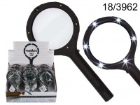 Magnifying Glass with 6 LED, ca. 24 cm, for 2 ...