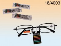 Reading Glasses with Metal Frame in PVC case, ...