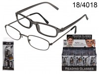 Reading glasses set with 1 plastic & 1 metal ...