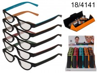 Reading glasses with plastic frame, Double Colour ...