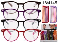 Reading glasses with plastic frame, Striped ...