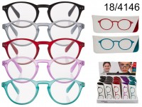 Reading glasses with plastic frame, Round Style, ...
