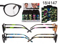 Reading glasses with plastic frame, Camouflage, ...