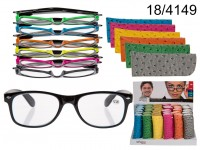 Reading glasses with plastic frame, Neon Colours, ...