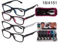 Reading glasses with plastic frame, Two Tone, in ...