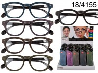 Reading glasses with plastic frame, Wooden Optic, ...