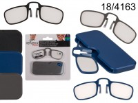 Reading glasses with plastic frame, Pince Nez, ...