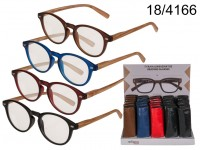 Reading glasses with plastic frame & wooden ...