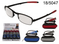Foldable reading glasses with plastic frame, in ...