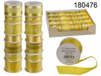 Ribbon, yellow, 25 mm x 3 m (12 rolls) / 38 mm x ...