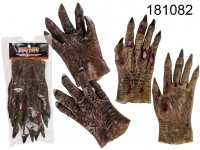 Plastic Gloves, Horror,one size,  set of 2 2 ...
