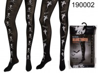 Black tights, ghosts & skulls, Halloween, 100% ...