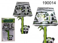 Plastic wall sticker, Panda lamp, with LED, incl. ...