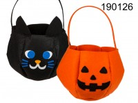 Felt halloween bag, ca. 22 x 32 cm, 2 assorted, ...