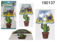 Plastic wall sticker, Llama & cactus  lamp, with ...