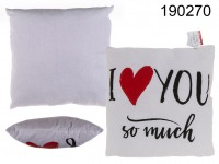 White decoration cushion, I love you so much, 80% ...