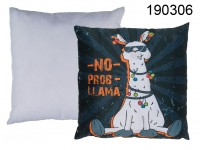 Black coloured decoration cushion, Llama, with ...