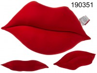 Red decoration cushion, Lips, 56 x 34 cm, 100% ...