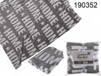 Grey coloured comfort blanket with 3D effect, ...