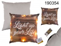 Decoration cushion Light up your Life chain of ...