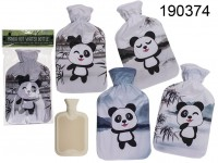 Ivory coloured hot water bottle, Panda, ca. 18 x ...