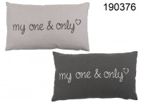 Decoration cushion, my one & only, 100 % cotton, ...