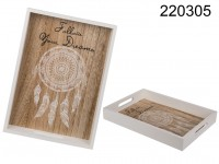 Wooden tray, Follow your Dreams, approx. 34 x 24 ...