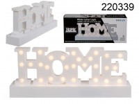 White plastic letter light, Home, with 28 warm ...
