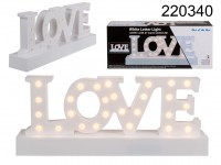 White plastic letter light, Love, with 27 warm ...