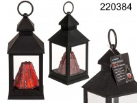 Lantern, volcano with 15 LED- flickering , ca. 24 ...
