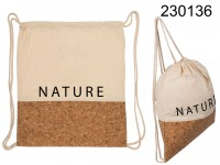 Fashion bag, ivory, Nature, cotton  with cork ...