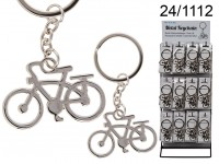 Metal keychain, Bicycle, ca. 5 cm, 48 pcs. per ...