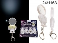 Metal keychain with magnifier & LED (incl. ...