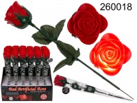 Red plastic rose with colour changing LED (incl. ...