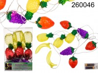 garland, mixed fruits, with 10 warm white LED, ca ...