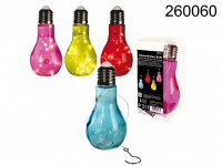 Coloured Glass bulb with 10 white LED, incl. ...