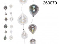 Glass ball Hanger, 6 glass balls , pearly finish, ...