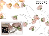 Garland with rose coloured mini roses & 10 ...