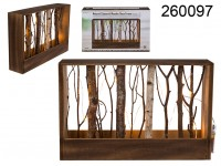 Natural coloured wooden deco frame with branches ...