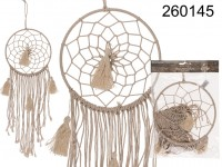 Nature coloured Dreamcatcher, Boho Style, with 4 ...