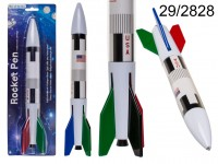 Pen, rocket, 4 colours ass. cartridge, ca. 33 cm, ...