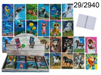 3D Spiral bound book, Animals, A6 format with 50 ...