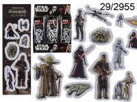 3D stickers, Star Wars, ca. 6 cm, 6 series ass., ...