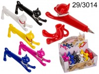 Ball Pen, Cat, ca. 12 cm, plastic, 6 colours ...