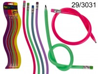 Flexible Pencils, ca. 32 cm, 4 colours ass., 4 ...