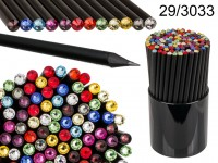 Black pencil with Swarovski stone, 12 colours ...